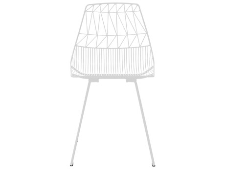 Bend Goods Outdoor Lucy White Metal Dining Chair (Sold in 2) BOOLUCYWH