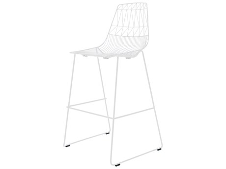 Bend Goods Outdoor Lucy White Metal Bar Stool (Sold in 2) BOOSTACKBARLUCYWH