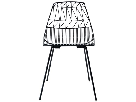 Bend Goods Outdoor Lucy Black Metal Dining Chair (Sold in 4) BOOSTACKLUCYBLK