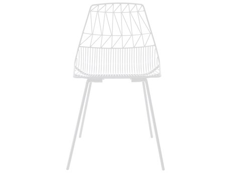 Bend Goods Outdoor Lucy White Metal Dining Chair (Sold in 4) BOOSTACKLUCYWH