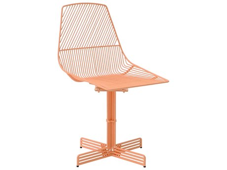 Bend Goods Outdoor Ethel Peach Pink Metal Dining Chair PatioLiving