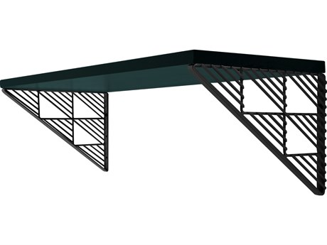 Bend Goods Outdoor Black Accent Wall Shelf PatioLiving