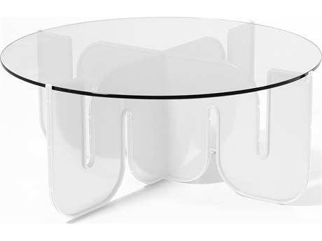 Bend Goods Outdoor Wave White 36'' Wide Round Coffee Table PatioLiving