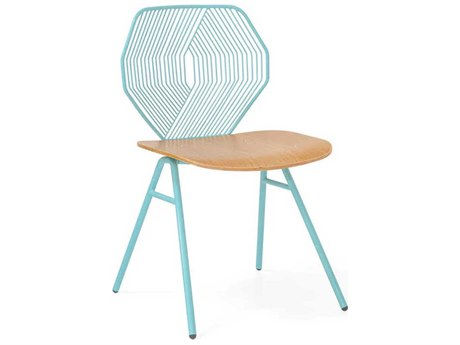 Bend Goods Outdoor Wood & Wire Aqua Dining Chair (Sold in 2) PatioLiving