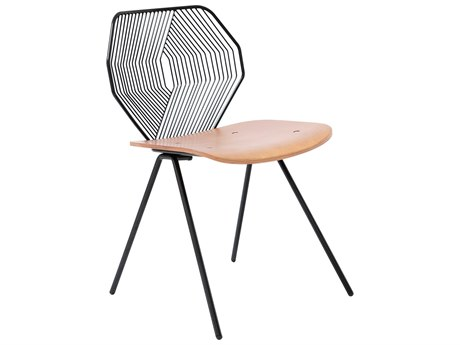 Bend Goods Outdoor Wood & Wire Black Dining Chair (Sold in 2) PatioLiving