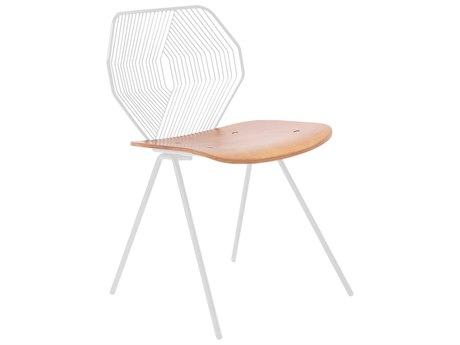 Bend Goods Outdoor Wood & Wire White Dining Chair (Sold in 2) PatioLiving