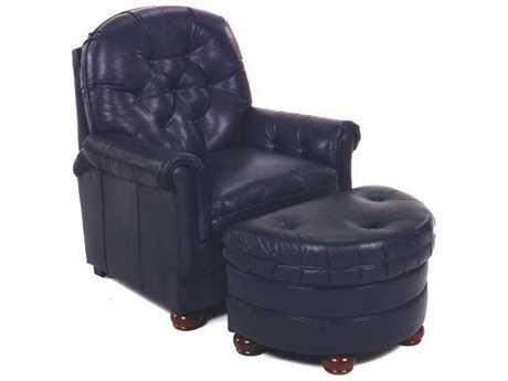 Bradington Young Rockwell Club Chair with Ottoman 8-Way Tie