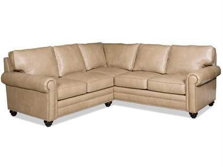 Bradington Young Daylen Sectional Sofa with Right Arm Facing Corner Return Sofa 8-Way Tie