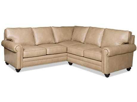 Bradington Young Daylen Sectional Sofa with Left Arm Facing Corner Return Sofa 8-Way Tie