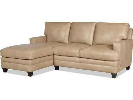 Bradington Young Donnelly Sectional Sofa with Left Arm Facing Chaise 8-Way Tie