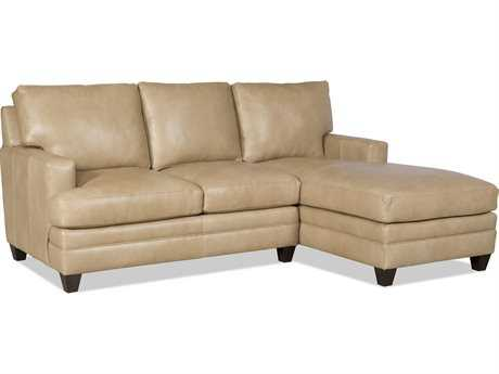 Bradington Young Donnelly Sectional Sofa with Right Arm Facing Chaise 8-Way Tie