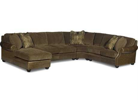 Bradington Young Warner Sectional Sofa with Left Arm Facing Chaise Lounge 8-Way Tie