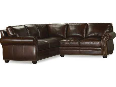 Bradington Young Sterling Sectional Sofa with Left Arm Facing Corner Return 8-Way Tie