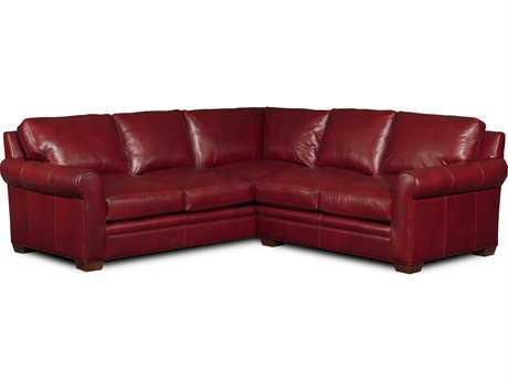 Bradington Young Landry Sectional Sofa with Left Arm Facing Corner Return Sofa 8-Way Tie