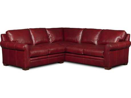 Bradington Young Landry Sectional Sofa with Right Arm Facing Corner Return Sofa 8-Way Tie