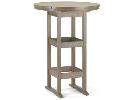 Breezesta Recycled Plastic 32''Wide Round Bar Height Table