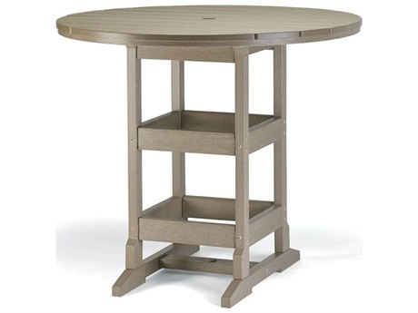 Breezesta Recycled Plastic 48''Wide Round Bar Height Table