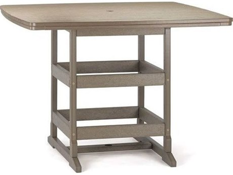Breezesta Recycled Plastic 60''W x 42''D Rectangular Bar Height Table