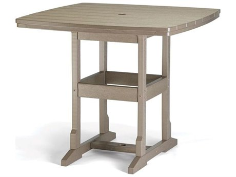 Breezesta Counter Recycled Plastic 36''Wide Square Counter Height Table