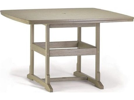 Breezesta Counter Recycled Plastic 58''Wide Square Counter Height Table