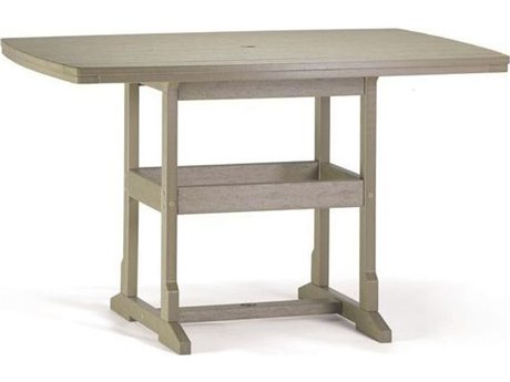 Breezesta Counter Recycled Plastic 60''W x 42''D Rectangular Counter Height Table
