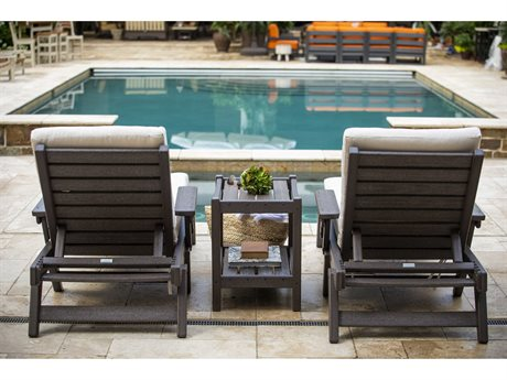 Breezesta Basics Recycled Plastic Chaise Lounge Set PatioLiving
