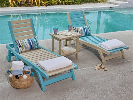 Breezesta Basics Recycled Plastic Chaise Lounge Set