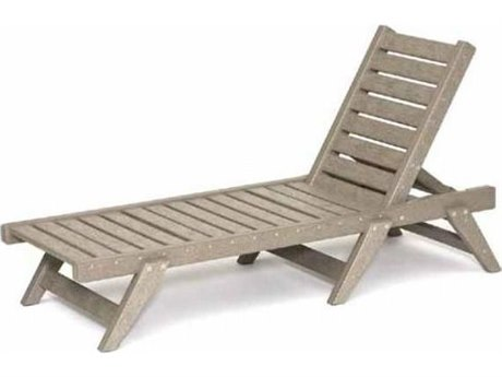 Breezesta Basics Recycled Plastic Chaise Sun Flat Chaise Lounge with Wheels