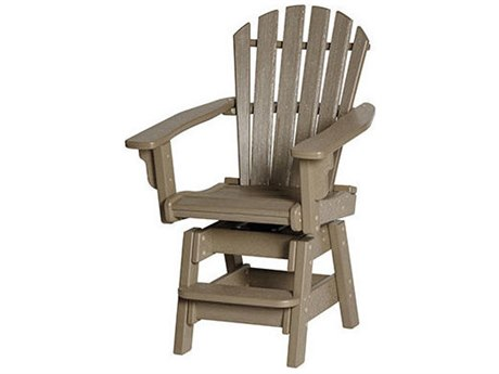 Breezesta Coastal Recycled Plastic Swivel Counter Chair PatioLiving