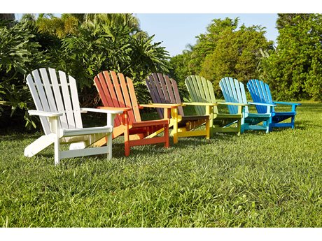 Breezesta Coastal Recycled Plastic Adirondack Lounge Set PatioLiving