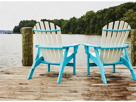 Breezesta Coastal Recycled Plastic Adirondack Lounge Set