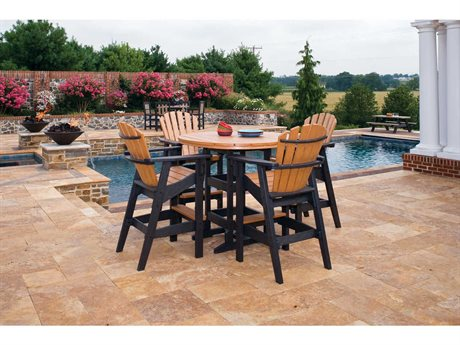 Breezesta Coastal Bar Height Recycled Plastic Dining Set PatioLiving