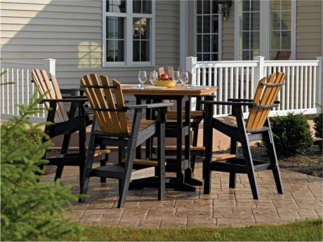 Breezesta Coastal Bar Height Recycled Plastic Dining Set