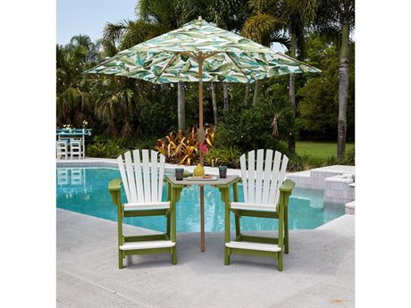 Breezesta Coastal Counter Height Recycled Plastic Tete-A-Tete Set PatioLiving