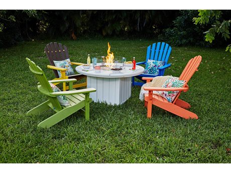Breezesta Coastal Recycled Plastic Fire Pit Lounge Set PatioLiving
