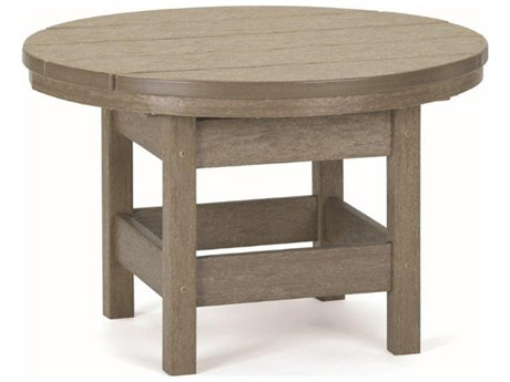 Breezesta Recycled Plastic 26''Wide Round End Table