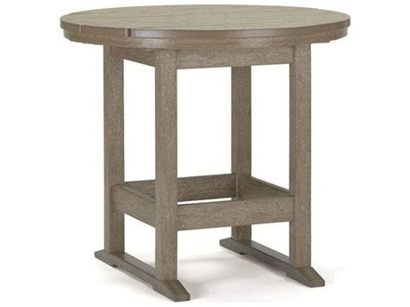 Breezesta Dining Recycled Plastic 26''Wide Round Dining Height Table