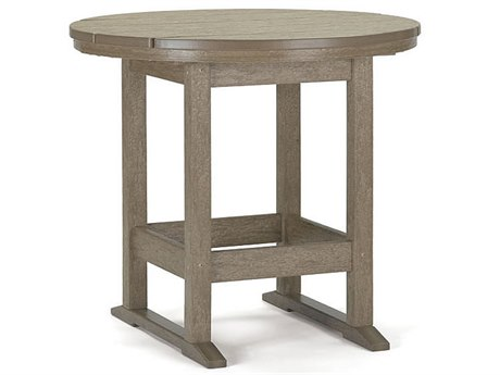 Breezesta Dining Recycled Plastic 36''Wide Round Dining Height Table