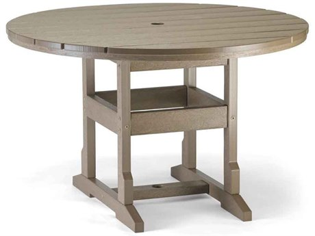 Breezesta Dining Recycled Plastic 48''Wide Round Dining Height Table