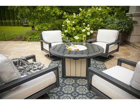 Breezesta Palm Beach Recycled Plastic Fire Pit Lounge Set PatioLiving