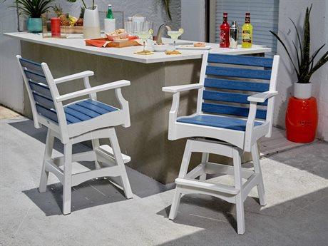 Breezesta Piedmont Recycled Plastic Bar Stool Set