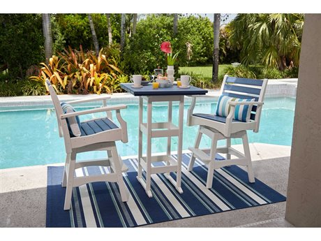 Breezesta Piedmont Bar Height Recycled Plastic Dining Set