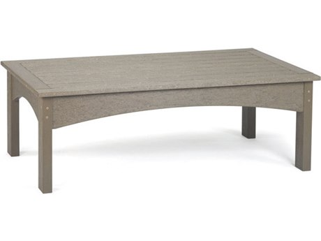 Breezesta Piedmont Recycled Plastic 48''W x 27''D Rectangular Coffee Table PatioLiving