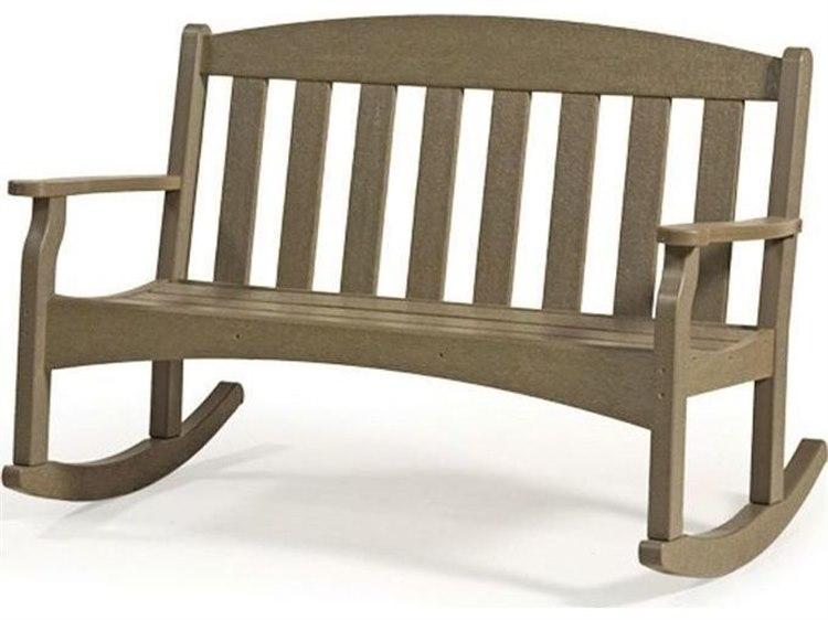 Breezesta Skyline 48 Inch Rocking Bench, Outdoor Rocking Bench With Cushions