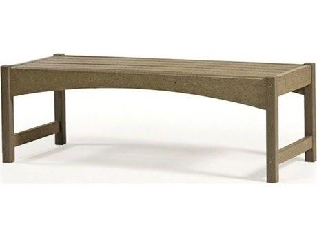Breezesta Skyline Recycled Plastic 48''W x 19''D Rectangular Coffee Table