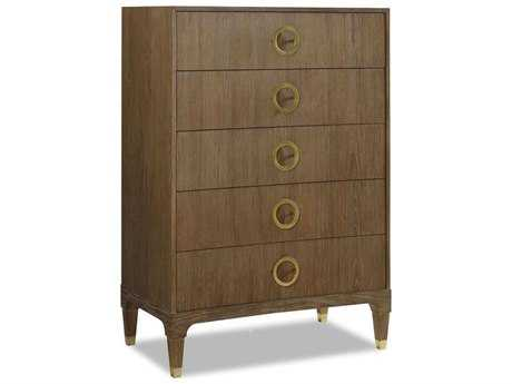 Brownstone Furniture Atherton Highboy 36''L x 21''W Rectangular Cerused Teak Chest of Drawers