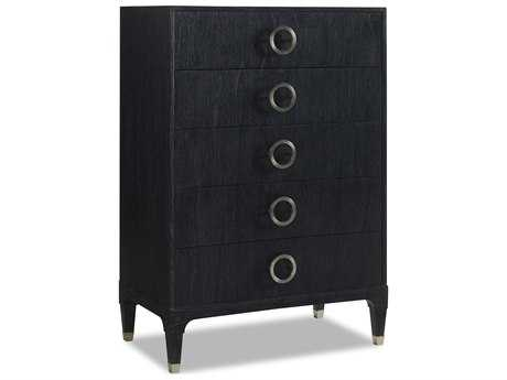 Brownstone Furniture Atherton Highboy 36''L x 21''W Rectangular Deep Onyx Chest of Drawers
