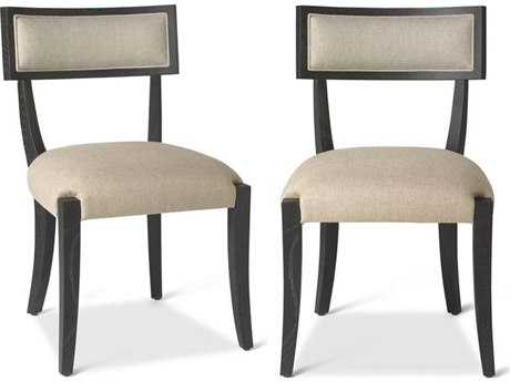 Brownstone Furniture Atherton Deep Onyx with Hazel Linen Dining Side Chair