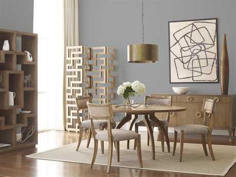 Brownstone Furniture Atherton Cerused Teak Dining Set