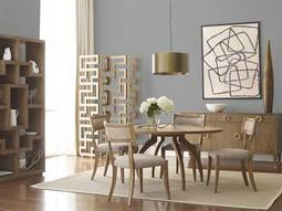 Brownstone Furniture Atherton Cerused Teak Dining Set
